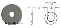 Podložka pro dřevěné konstrukce DIN 440  26 x 92 x 5 mm   pozinkovaná