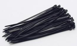 Vázací pásky 120x2,5mm, 50 ks černá